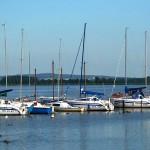 Mielno - jachty na jeziorze Jamno